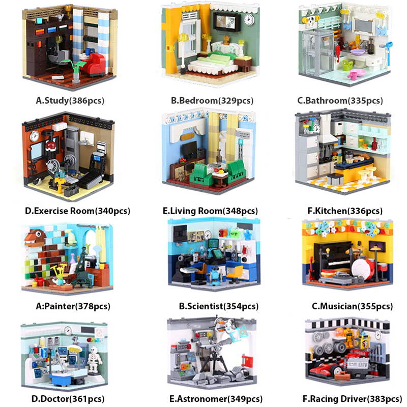 XINGBAO حقيقية مدينة منزل أصدقاء سلسلة تأثيث المنزل و المستقبل أحلام اللبنات الطوب متوافق Legoings مدينة-في حواجز من الألعاب والهوايات على  مجموعة 1