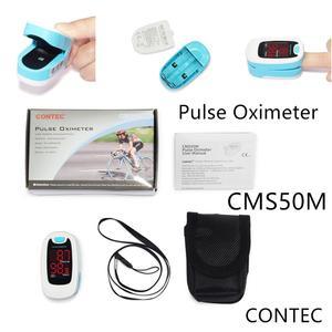 Oxímetro LED de pulso para la yema del dedo CONTEC CMS50M, monitor de oxígeno en sangre, cuidado de la salud, bolsa negra