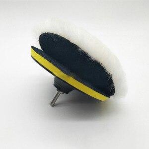 Image 4 - 5/6/7 inç araba sünger parlatma diski kendinden yapışkanlı yün parlatma tekerleği yorgan yün tavşan kürk topu tampon