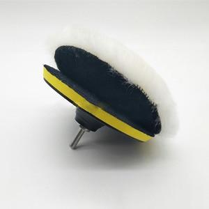 Image 4 - 5/6/7 אינץ רכב ספוג ליטוש דיסק דביק צמר ליטוש גלגל שמיכת צמר ארנב פרווה כדור כרית