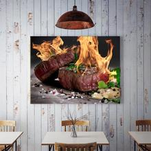 50x70cm Home Background Wall Delicious Rosemary Roast Beef Decor Canvas Restaurant Kitchen Hanging Painting Wall Decor Painting