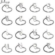 Mode Englisch Brief A-Z Ersten Ringe Custom Name Schmuck Tiny Herz Ring für Frauen Männer Familie Freundschaft Geschenk Großhandel