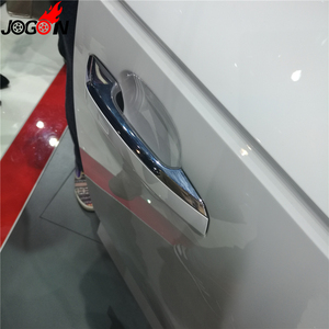 Image 5 - Glossy Chrome For Audi A4 S4 RS4 B9 A5 S5 RS5 2017 Q5 FY 2018 2019 Car Styling Door Side Handle Molding Cover Trim Accessories