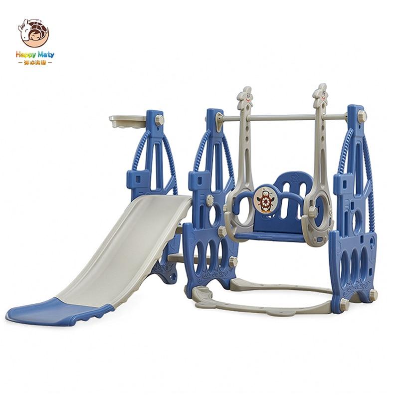 Baby Slide Three In One Children Indoor Swing Chair Kindergarten Slide Swing Combination Kids Playground Toys matys02(China)