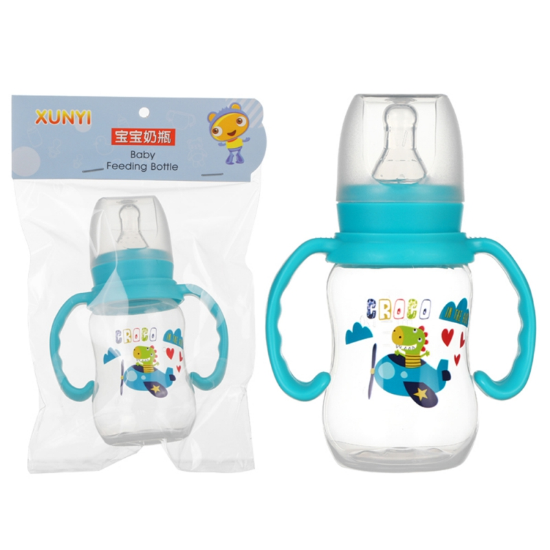240ml Baby Bottles Silicone Milk Feeding Bottles Gift Infant Drinking Water Bottle With Handle Kids Cup