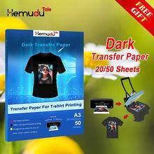 Inkjet Iron-On Dark T Shirt Transfers Paper A3/A4 Heat Transfer Machine for Cotton Fabrics  free return