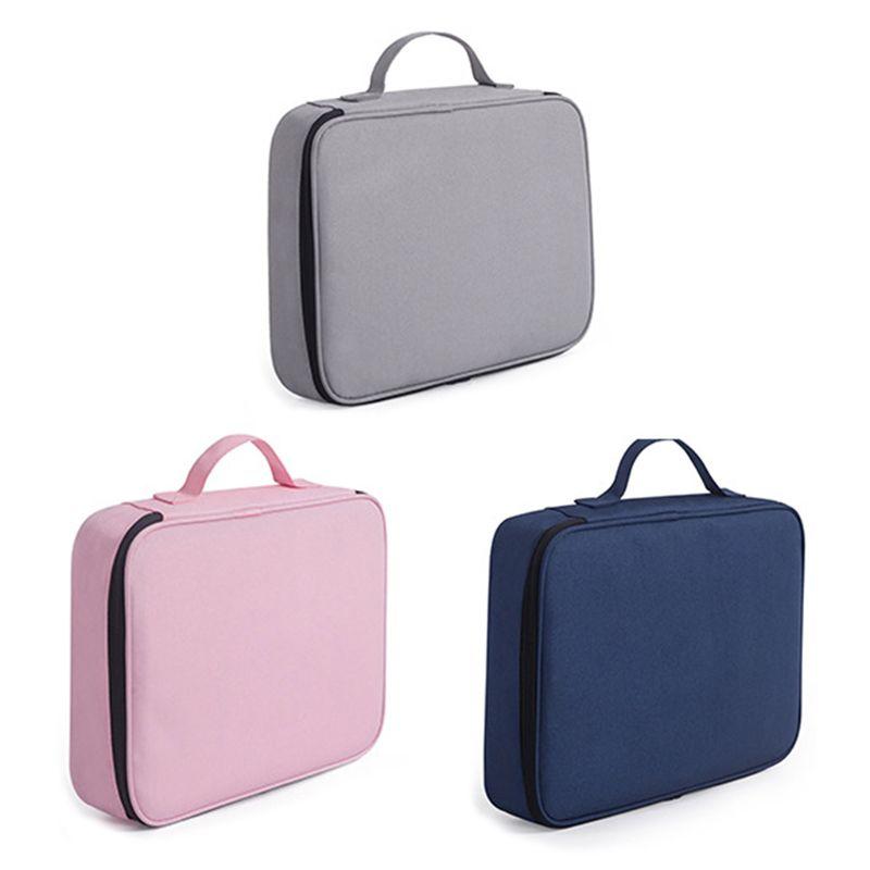 Document Ticket Storage Bag Waterproof Large Capacity Certificates Files Organizer Holder Bag for Home Office Travel|File Folder| |  - title=