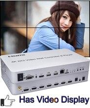 2x3 Splicer 2x2 3x3 접합 디스플레이 프로세서 HDMI USB 플레이어 비디오 벽 컨트롤러 오디오 추출 RJ45 이더넷 WIFI RS232