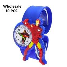 (Wholesale 10 Pcs) New Kids Watches Iron Man Heroes Children Watch