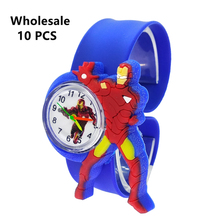(Wholesale 10 Pcs) New Kids Watches Iron Man Heroes Children