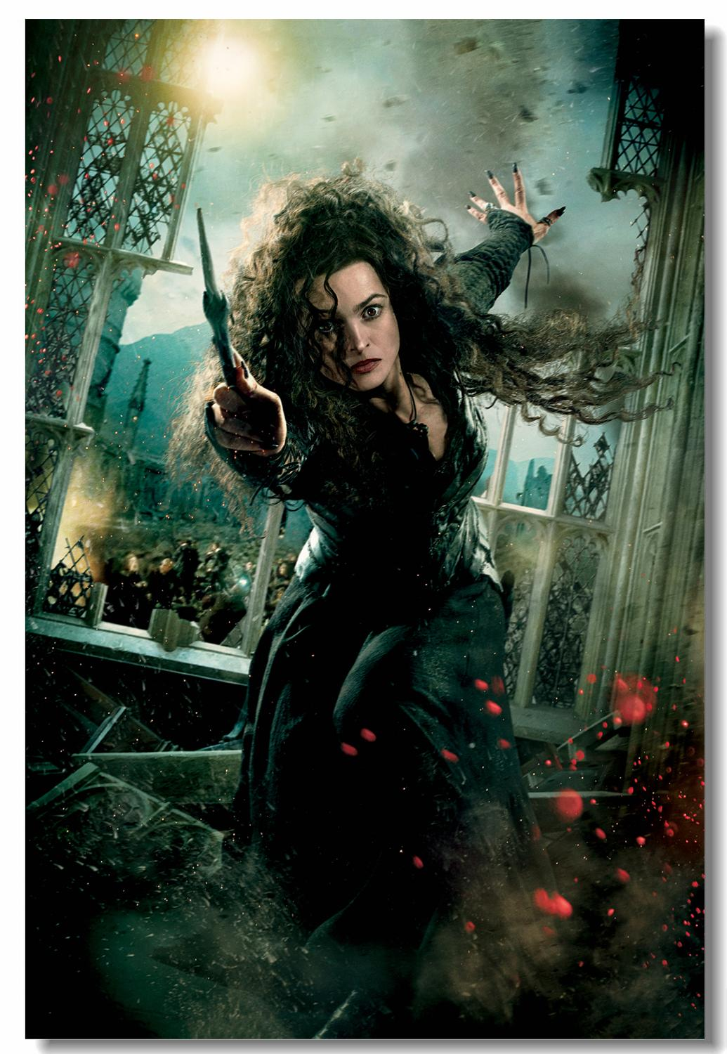 Custom Canvas <font><b>Wall</b></font> Art Bellatrix Lestrange Poster Voldemort Draco Malfoy <font><b>Wall</b></font> <font><b>Stickers</b></font> Helena Carter Wallpaper <font><b>Retro</b></font> Mural #835# image