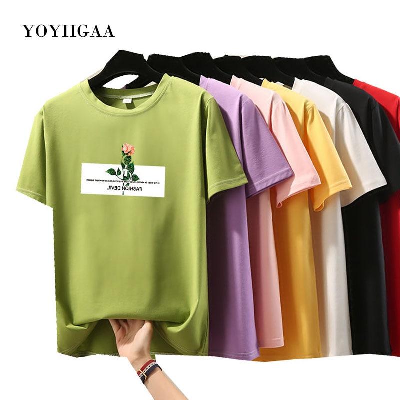 Women T-shirt O-Neck Short Sleeve Female Tshirts Summer  Tee Tops Casual Loose Woman T Shirts Fashion Laides Tee Women Clothing
