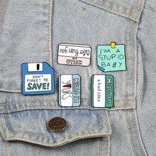 Каваи Липкие заметки эмалированные булавки милые сообщения нагрудные булавки бумага памятки значки Броши для женщин Кнопка рубашка свитер украшения из джинсы