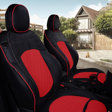Capa de assento da frente do carro almofada para mini cooper r56 r55 r57 r58 r59 r60 r61 couro protetor estilo acessórios união jack