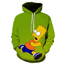 3D Cartoon printing Hoodies Cute Homer Simpson And his Son Anime Hoodie Series Men / Women Autumn and Winter Sweatshirt