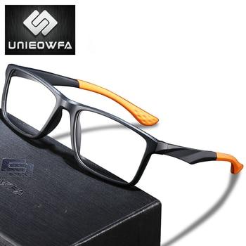 Optical Prescription Glasses Men Photochromic Anti Blue Light Progressive Eyeglasses Clear Myopia Eyewear Matt TR90 Frame