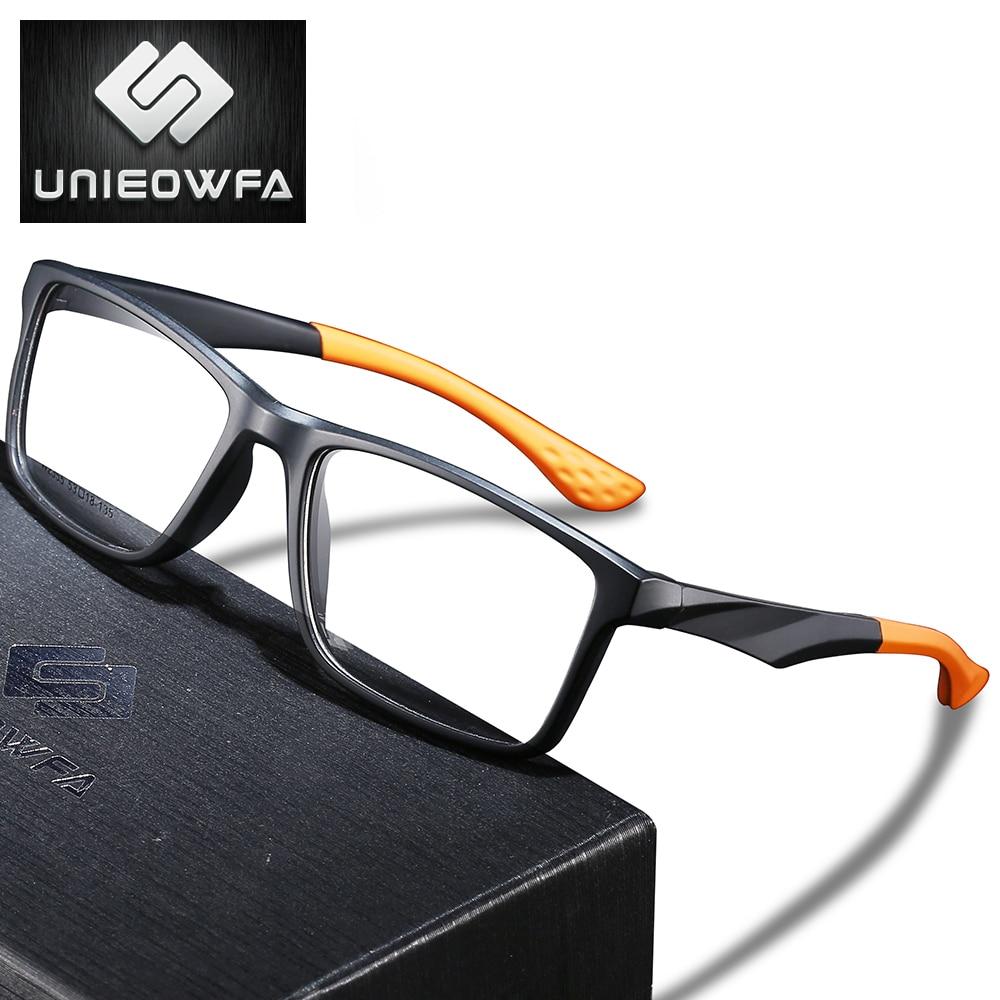 UNIEOWFA Clear Optical Prescription Glasses Men Photochromic Anti Blue Light Eyeglasses Progressive Myopia Eyewear TR90 Frame