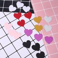 Конфетти скребок бумаги красочные блестящие карты набор вечерние поставки Свадебный декор в форме сердца