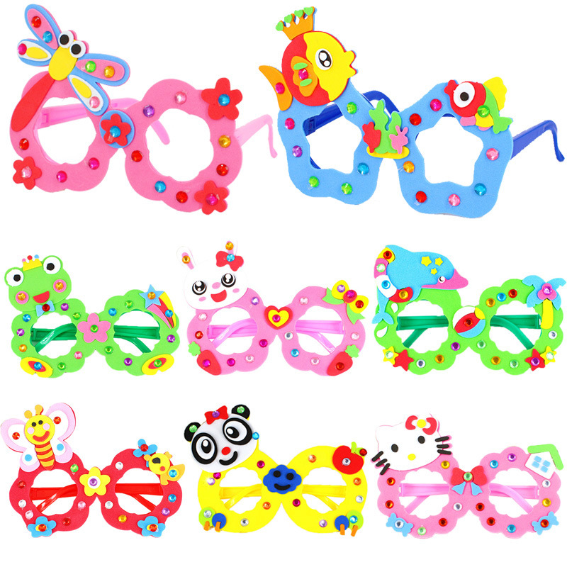 Creative DIY EVA Glasses Frame Baby Kids Children Educational Handmade Material Puzzles Arts And Crafts Toys For Kids Infant