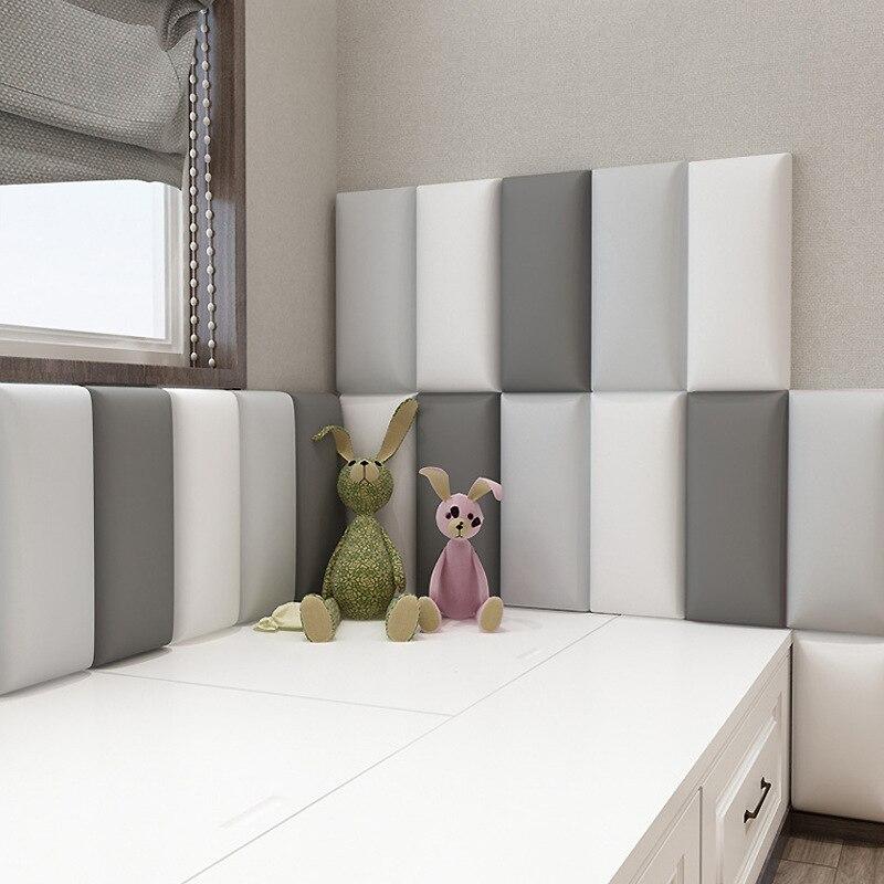 Tatami personalizado para cabecero de cama, bolsa suave anticolisión, cojín de pasta envolvente de pared, pegatinas de pared para habitación de niños y bebés
