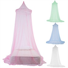 Home Elegant Hung Dome Mosquito Net  For Summer Mesh Fabric Home Moustiquaire Lit Lace Baby Kids Bed Canopy Netting Room