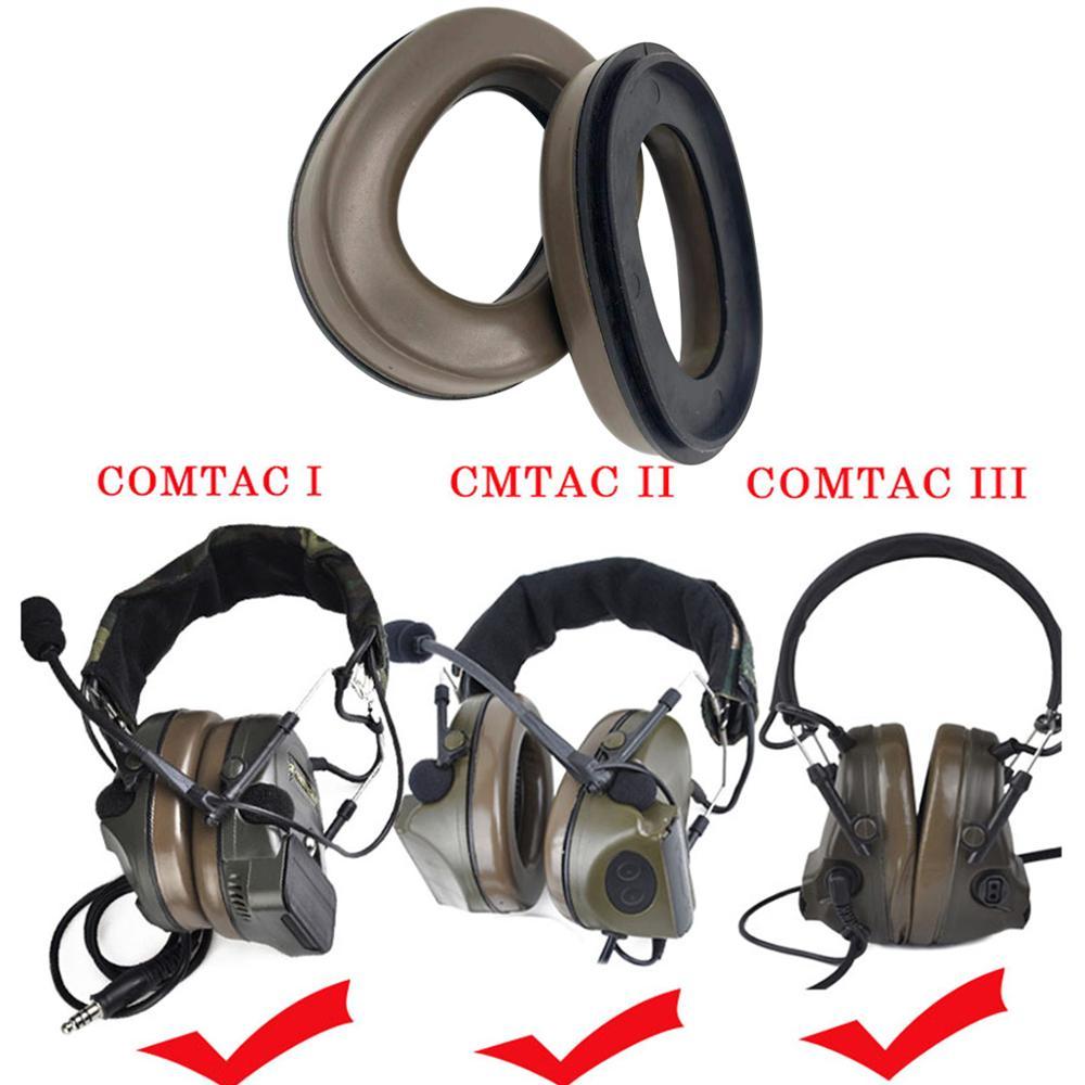 Купить с кэшбэком Headset Sponge Replacement Ear Cushion Tactical Headphones Earmuffs Fit Peltor Comtac Series Comtac i ii iii
