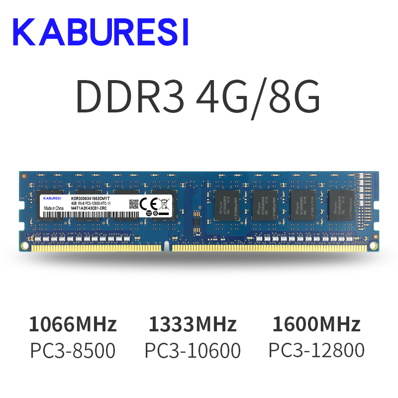 Kaburesi Brand Sealed <font><b>DDR3</b></font> 2GB/4GB <font><b>1066MHz</b></font> 1333MHz <font><b>1066MHz</b></font> Memory Ram memoria ram For desktop PC image