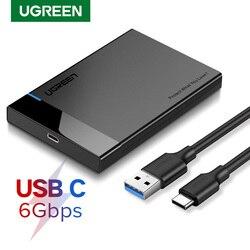 Ugreen hdd caso 2.5 sata para usb 3.0 adaptador gabinete de disco rígido para disco ssd hdd caixa tipo c 3.1 caso hd hdd externo gabinete