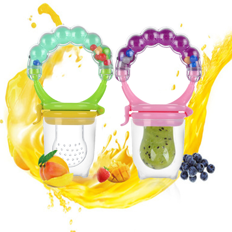 Newborn Baby Fruit Music Teether Nipple Food Mordedor Bite Baby Silicone Teethers Safety Feeder Bite Food Teether Oral Care