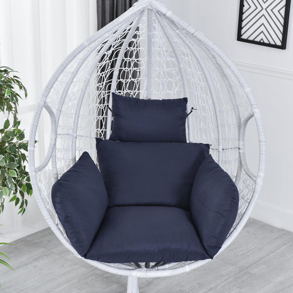 Hanging Hammock Chair Swinging Garden Outdoor Soft Seat Cushion Seat 220KG Dormitory Bedroom Hanging Chair Back with Pillow 40a