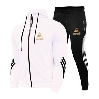 2 Pieces Sets Tracksuit Men's Sets Print Men Hooded Sweatshirt+pants Pullover Hoodie Sportwear Suit Casual Sports Men Clothes 5