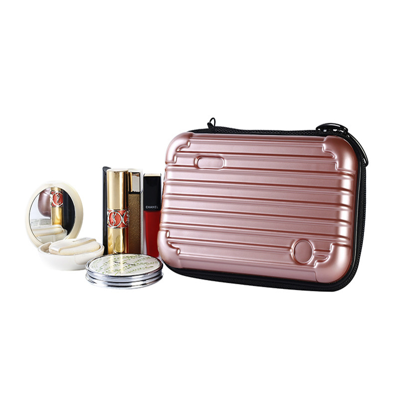 Travel Cosmetic Bag Make-up Portable Storage Box Small Items Storage Box Wash Pouch Waterproof Wear-resistant Organizer Case title=