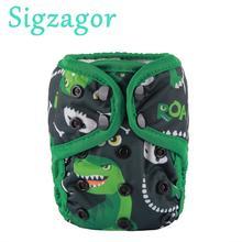 [Sigзагор] 1 шт. чехол для подгузника, регулируемый водонепроницаемый подгузник PUL с двойной ластовицей ананас 4,4-10 фунтов 2 кг-5 кг