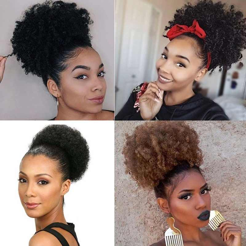 Mumupi High Temperature Synthetic Fiber Curly Chignon Bun Hairpiece Elastic Fake Classic Hair Extensions For Black White Women Aliexpress