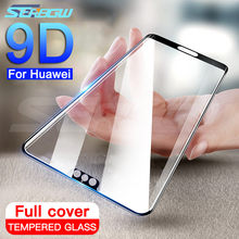 9D Protective Glass on the For Huawei P20 Lite Pro Nova 3 3E 3i 4 4E 5 5i P Smart 2019 Tempered Screen Protector Glass Film Case(China)