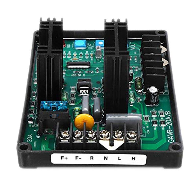 Tüketici Elektroniği'ten AC/DC Adaptörler'de Gavr 20A Av evrensel fırçasız otomatik voltaj regülatör modülü Avr jeneratör 220/400Vac frekans koruma Emi bastırma title=