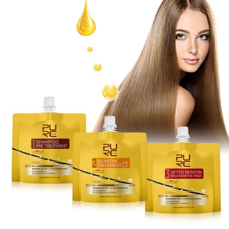 Keratin Hair Treatment No Fomalin No Irritation No Smoke Repair And Straighten Hair Care Treatment Kit