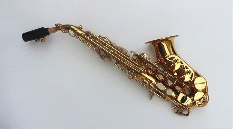 Сопрано саксофон том BB изогнутый сопрано sax из Bcreated музыкальный инструмент саксофон Sax для детей и чехол - 2