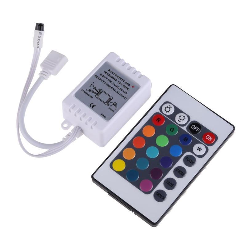24 Keys IR Remote Controller Wireless Light Strip Security Drive 5050 RGB LED Light Strip Light Control Box RGB Controler