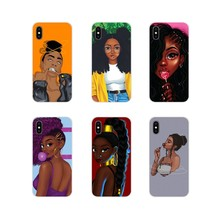 Accessories Phone Covers Black girl melanin cartoon For Oneplus 3T 5T 6T Nokia 2 3 5 6 8 9 230 3310 2.1 3.1 5.1 7 Plus 2017 2018(China)