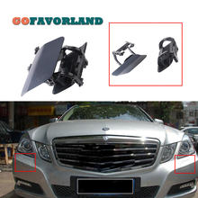 Pasangan LH RH Depan Headlight Washer Nozzle Cover Warna Acak L R 2128600108 2128600208 untuk Mercedes-Benz W212 E200 e500 E350 2009(China)