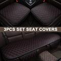 Чехол для автомобильного сиденья из искусственной кожи  универсальный защитный коврик для большинства автомобилей  подушка на переднее си...