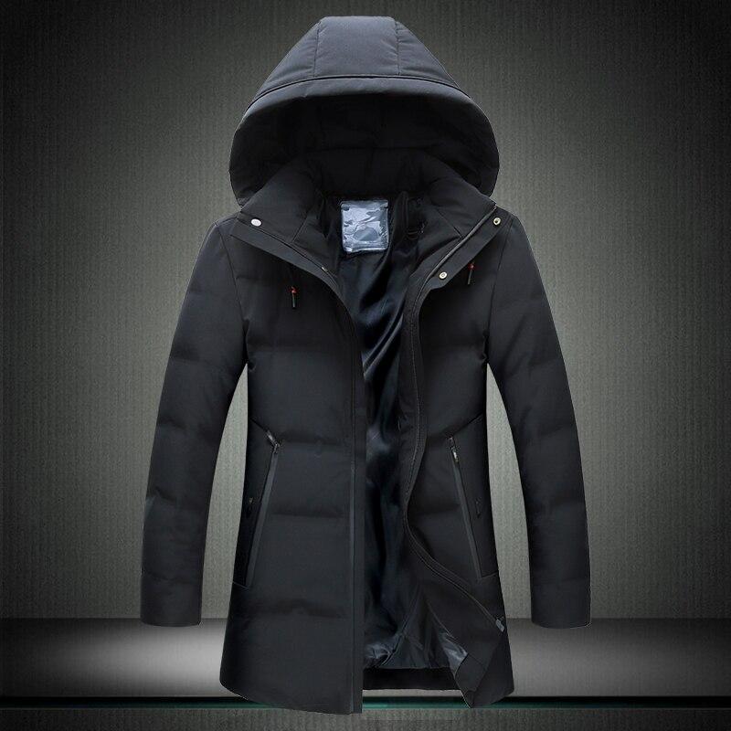 8XL 7XL canard doudoune hommes 2019 nouveau Style moyen longueur ue style élégant beau manteau épais hiver veste A916 - 3