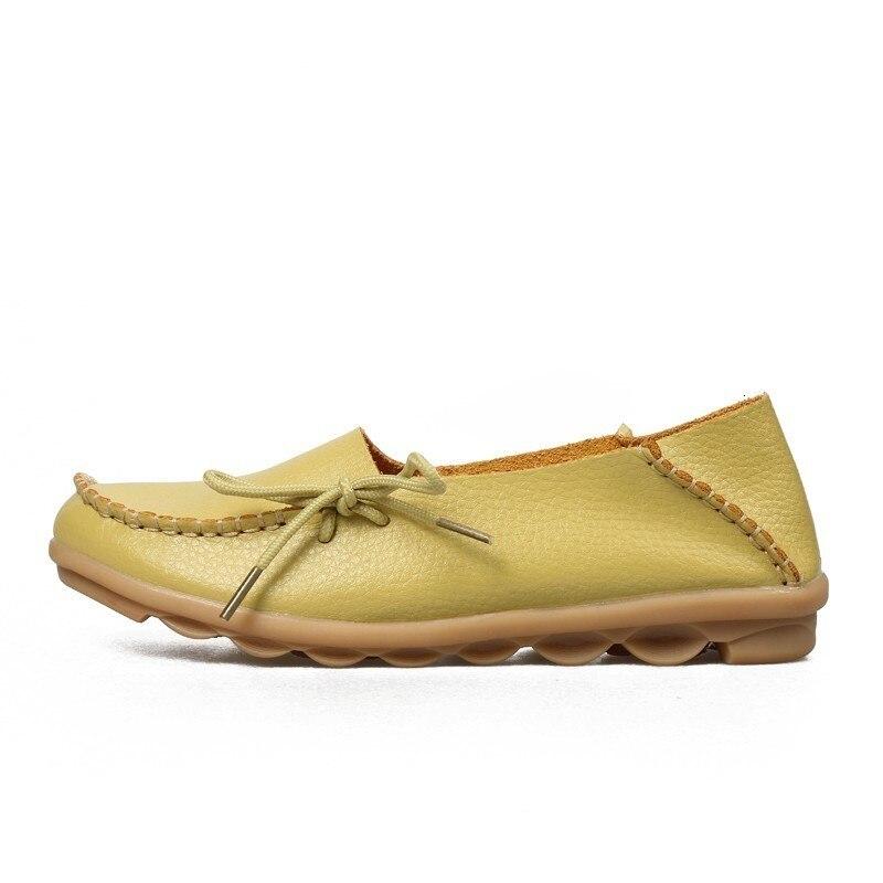 VIGOR/Женская обувь на плоской подошве; сезон весна; Женская Осенняя обувь из натуральной кожи; оксфорды; мокасины из натуральной кожи на плоской подошве; S80 - Цвет: Grass Green