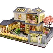 Домик кукольный cutebee k45 деревянный миниатюрный с комплектом