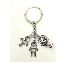 2020New Cute Keychain Series Alloy Mini Aerospace Earth Rocket for Boyfriend Will Be Happy Little Surprise Gift Funny Keychain