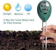 Comprobador de Ph del suelo 3 en 1, medidor de humedad del suelo, humidificador, medidor de humedad del suelo, luz solar, análisis de PH del suelo