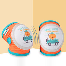 Kids Children Baby Toddler Crawling Anti-fall Knee Brace Cartoon Cute Knee Protector Sports Riding Cycling Protective Gear Set