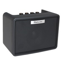 Flatsons Guitar Amplifier Speaker Built-In Mini Amp Electric Guitar Bass Rhythm Support Tap Tempo Function with Power Adapter Fg(China)