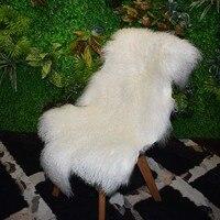 MS.Softex Natural Tibetan Lamb Skin Seat Cushion Natural Fur Skins Premium Mongolian lamb fur Mat Sheepskin Rugs